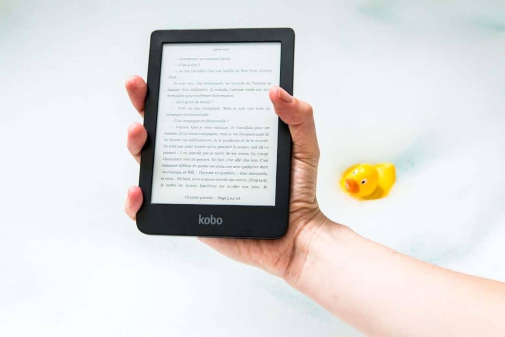 Ebook czytany w kąpieli