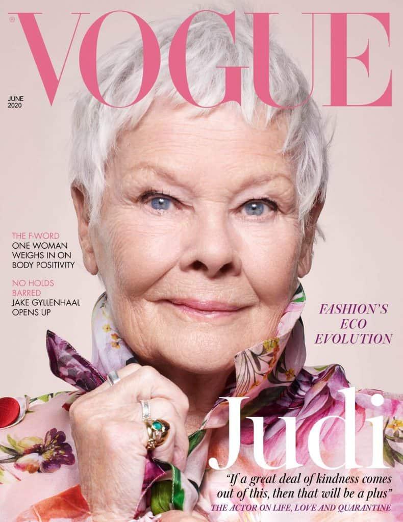Judi Dench na okładce Vogue