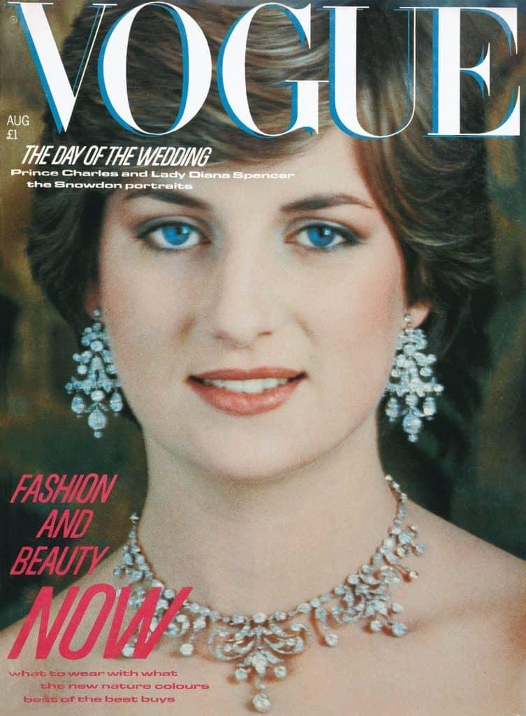 Księżna Diana na okładce magazynu Vogue