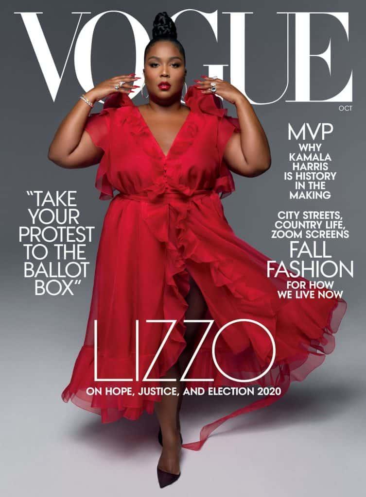 Lizzo na okładce Vogue